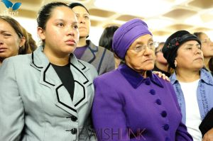 Picture  Credit: Tamir Orbaum, Tazpit News Agency. Keren's mother at the funeral.