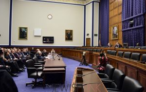 Photo 1: The House subcommittee hearing room.