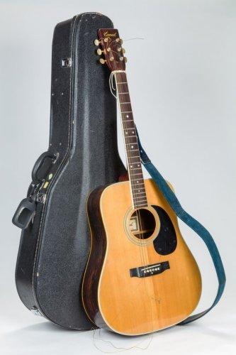 REB SHLOMO'S GUITAR. Steel string acoustic. Made by Conrad. Number 40213.