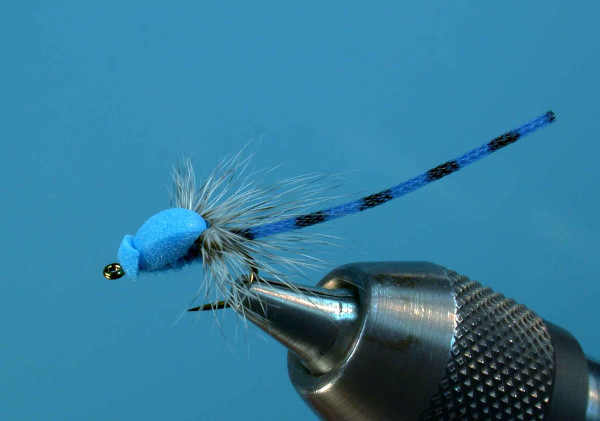 parachute blue damsel material fly tying fishing trout rainbow brook bluegill