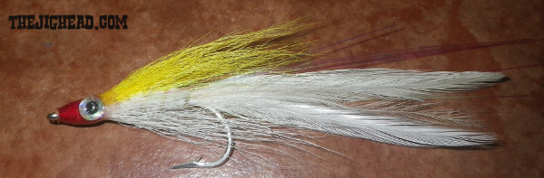 lefties deciever fly tying striped bass fly