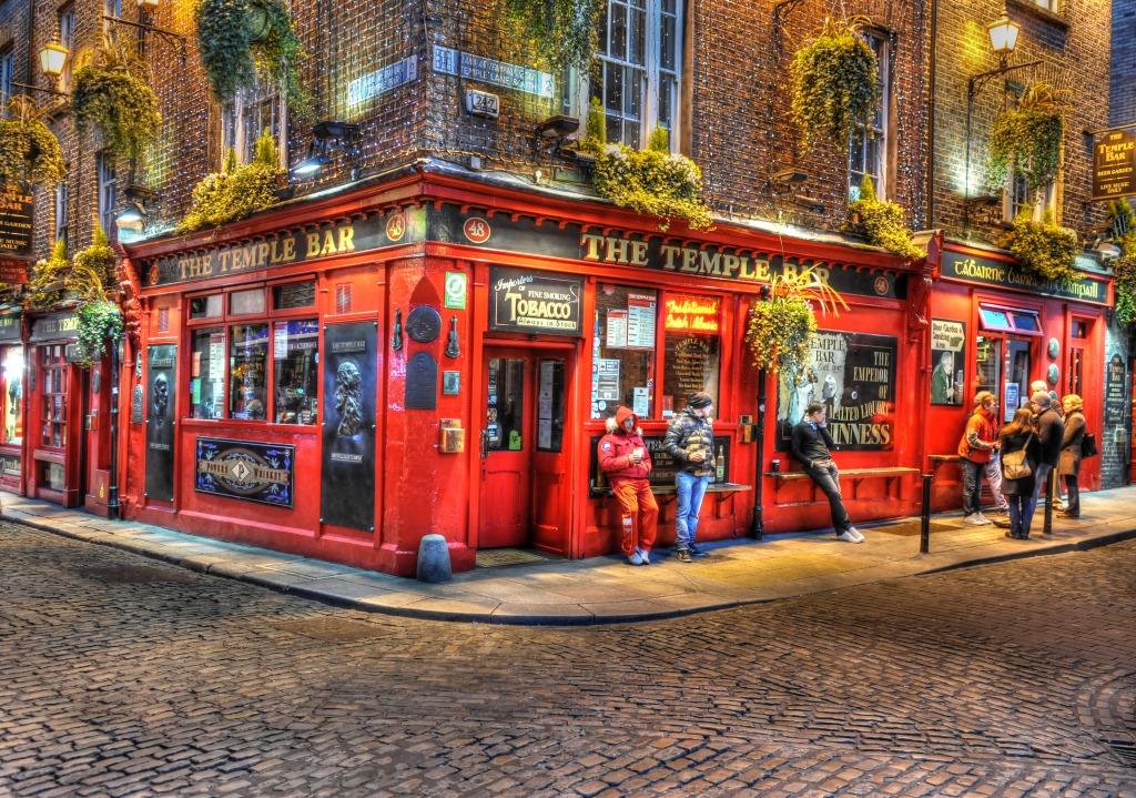 The Temple Bar Dublin Ireland Jigsaw Puzzle In Street