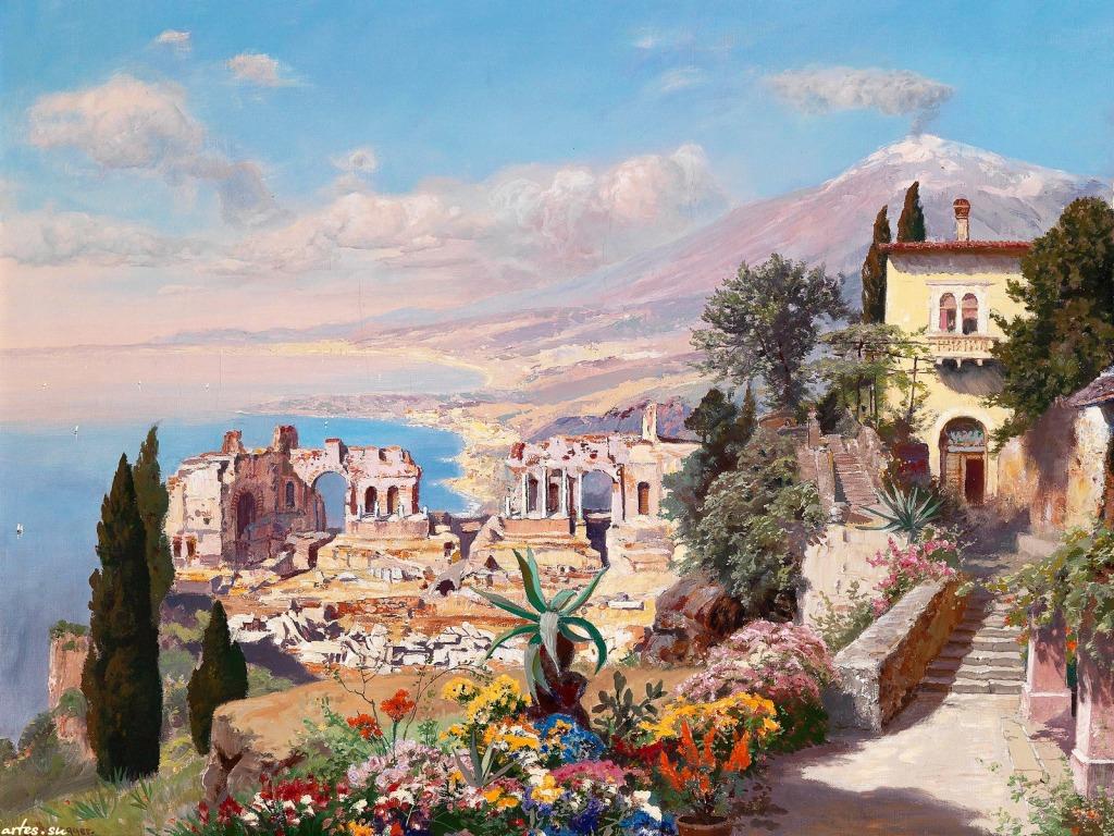 Taormina Paintings Sicily