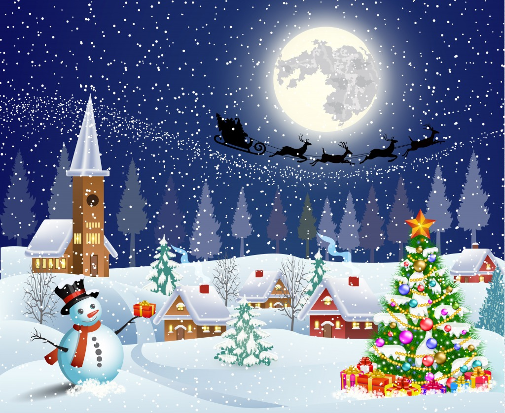 Merry Christmas jigsaw puzzle in Puzzle of the Day puzzles on TheJigsawPuzzlescom