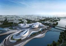 51391c4bb3fc4b48df0000bf_centro-cultural-internacional-changsha-meixihu-zaha-hadid-architects_02_aerial_view-1000x700