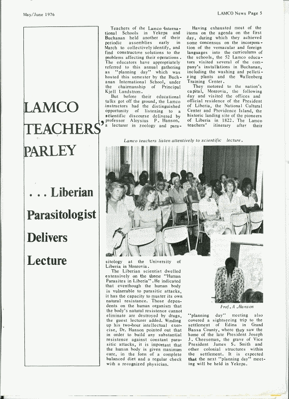 Lamco News May/June 1976