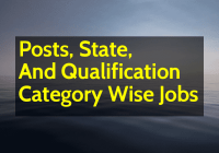 Posts, State, And Qualification Category Wise Jobs