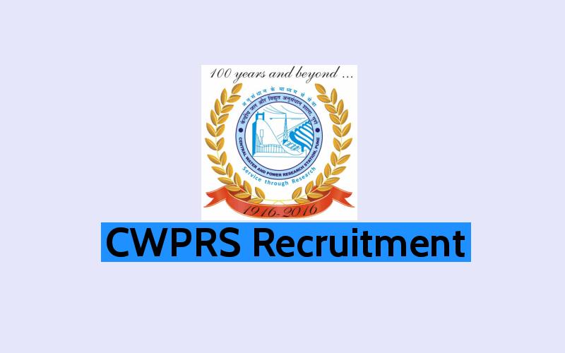 CWPRS Recruitment 2019 - 04 JRF Posts