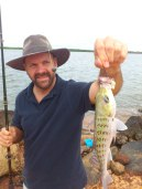 Jason's first fish in Numbulwar.
