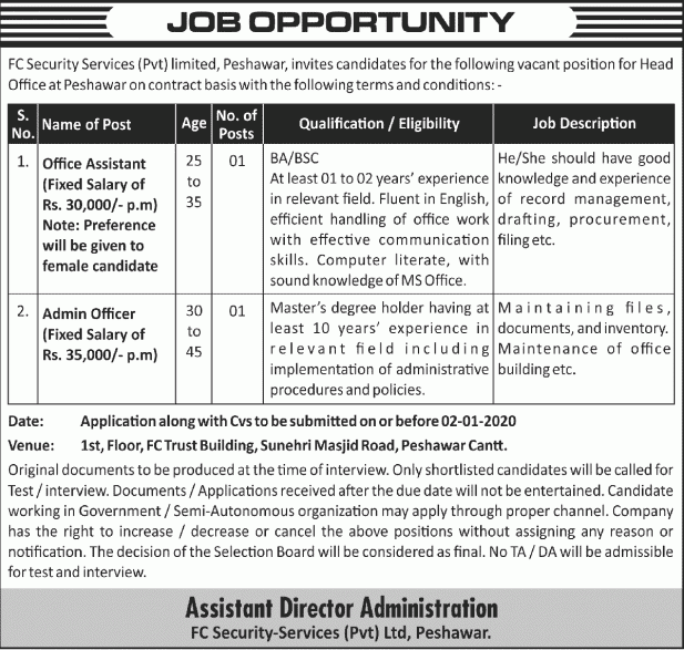 FC Security Services jobs 2019