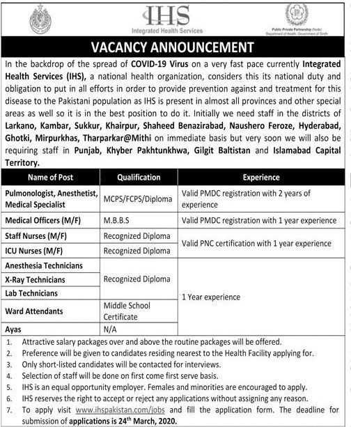 Integrated Health Services Jobs 2020