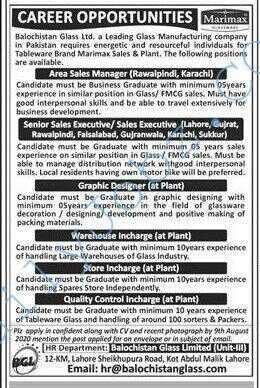 Glass Manufacturing Company Jobs 2020