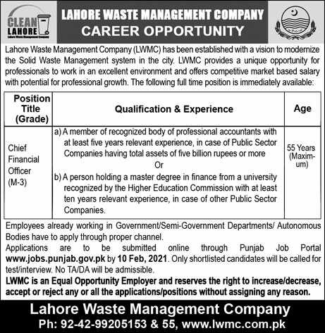 Government of the Punjab Jobs 2021