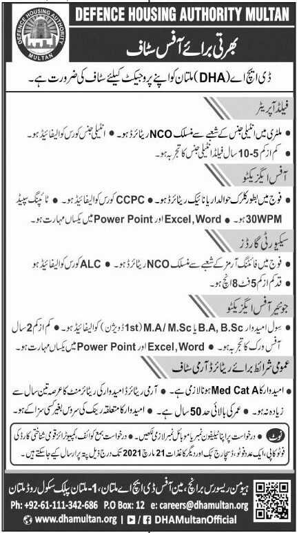 Defence Housing Authority Jobs 2021