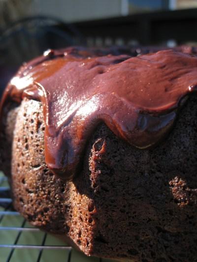 Chocoholic Cake on Hubby's b'day driping icing