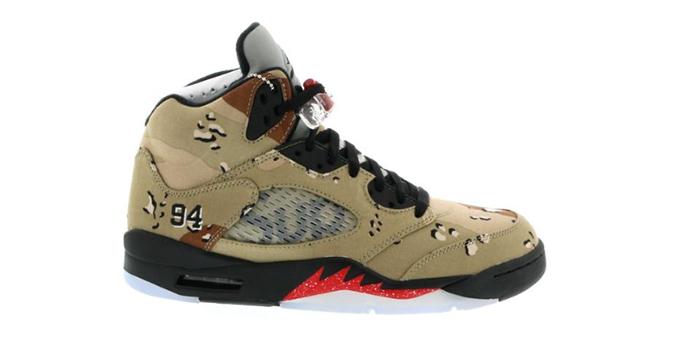 "Air Jordan Retro 5 Supreme ""Desert Camo"""