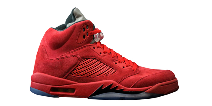 "Air Jordan Retro 5 ""Red Suede"""