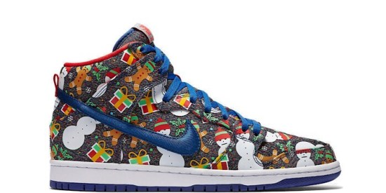 "Nike SB Dunk High ""Concepts Ugly Christmas Sweater"" (2017)"