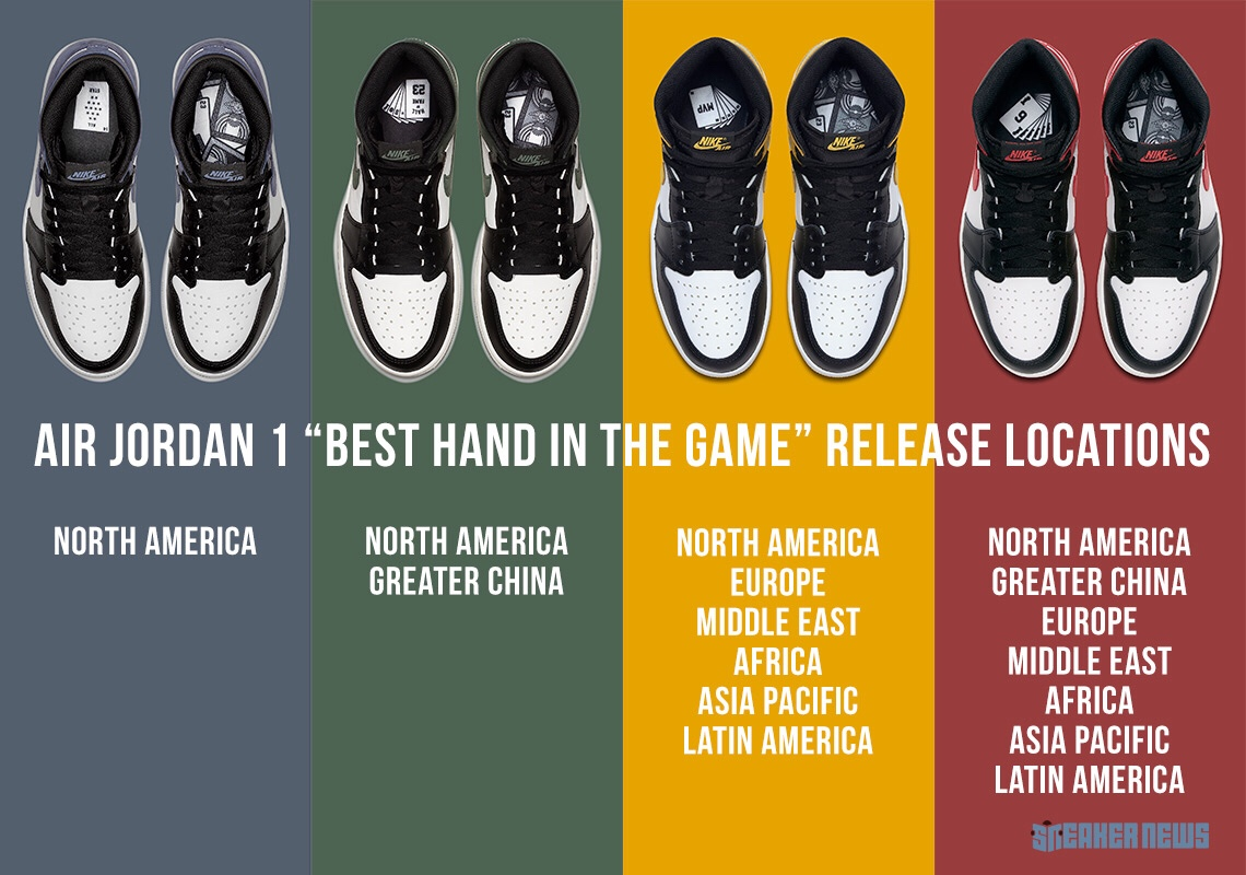 "04fdbf9739543d Official Release Locations For The Air Jordan 1 ""Best Hand In The ..."