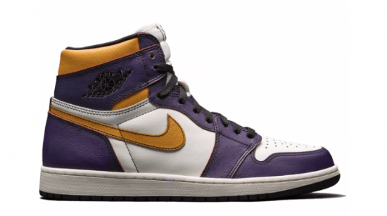 "Air Jordan Retro 1 High ""Defiant SB Lakers"""