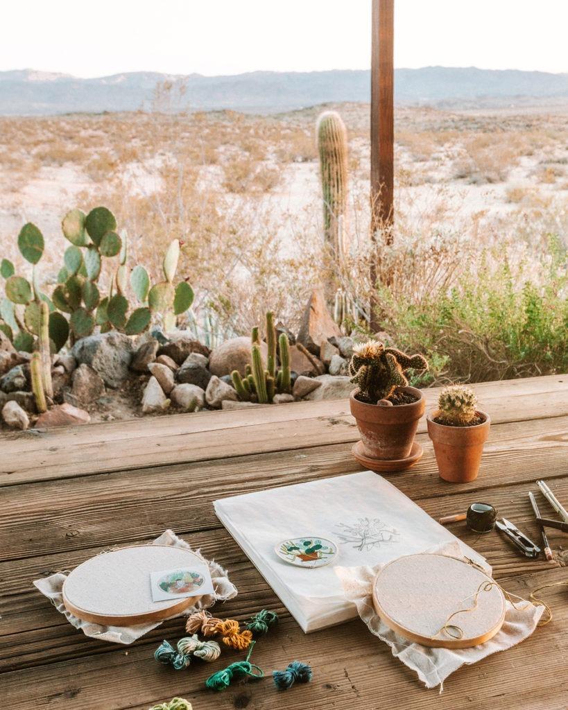 Cactus emroidery at the Hacienda