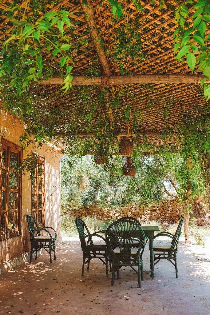 Berber Lodge outdoor dining