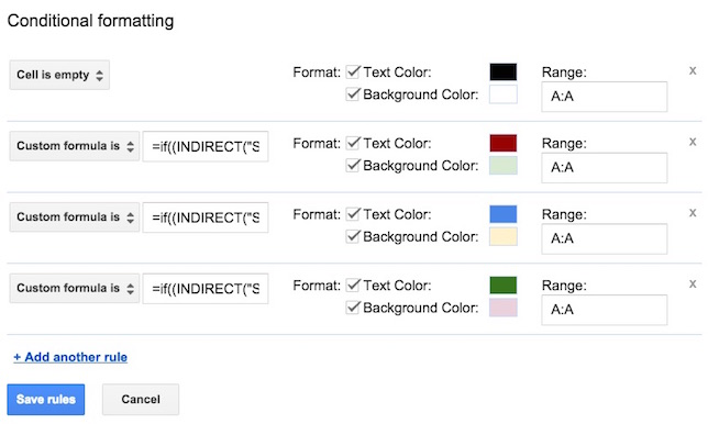 Google Apps: Applying Conditional Formatting Across Sheets -- THE ...