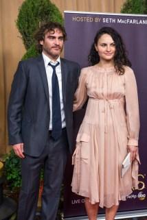 WORST DRESSED OF THE EVENING! Joaquin and Rain Phoenix (YIKES!)