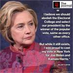 Hilary Clinton Insists On Abolition of US Electoral College