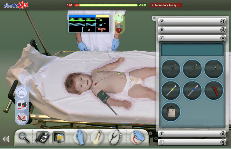 AbcdeSIM, the Flight Simulator for Medical and Health