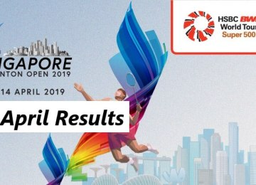 Singapore Open Match Results 09 April
