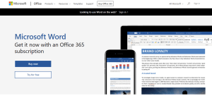 Microsoft Office Word Online