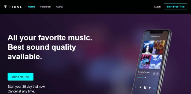Tidal Play music Online