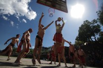 "1: Even with ""bahag"" or g-string, it's more fun to play basketball in the Philippines, especially during the ""Ayyoweng di Lamabak ed Tadian"" thanksgiving festival held in Tadian, Mt. Province."