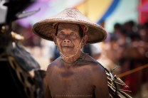 An elderly man of Bontoc, Mountain Province, is seen in his traditional attire during the 2013 Lang-ay Festival.