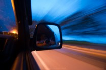 A self-portrait while traveling across the highways of La Union, north of Philippines, at dusk.