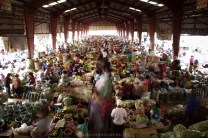 The busy vegetable trading post of La Trinidad in Benguet.