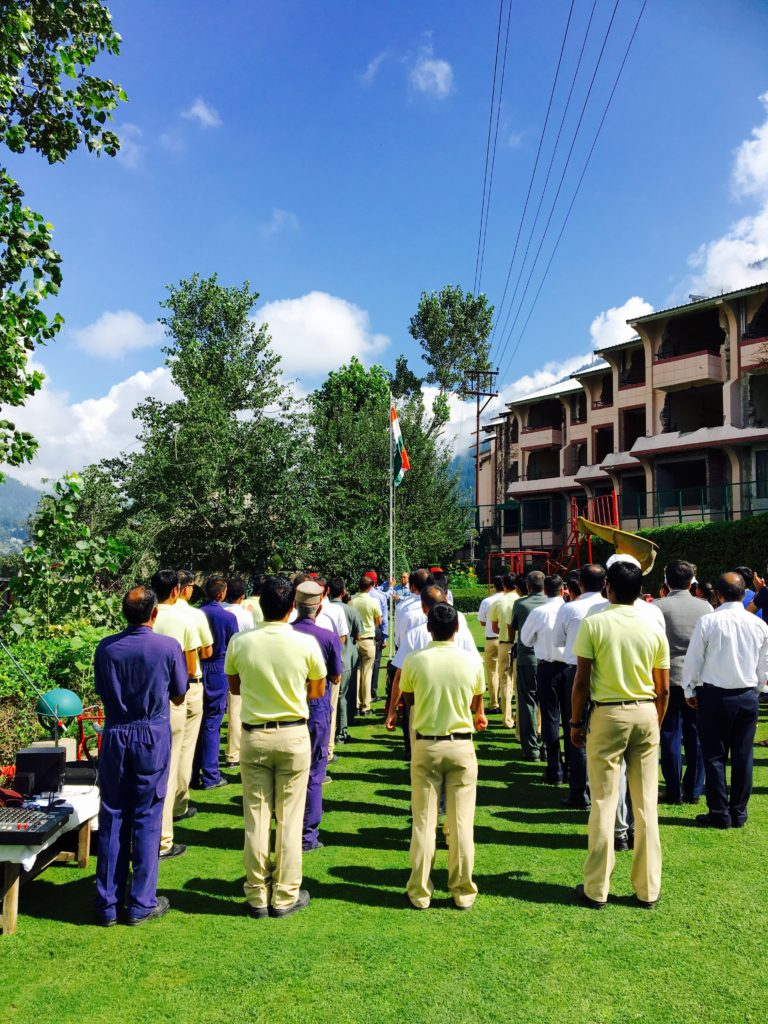 Independence day ceremony