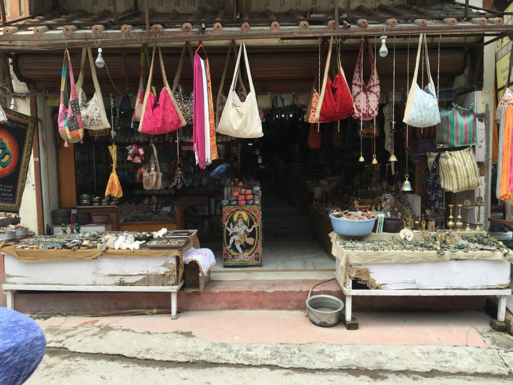 A typical roadside shop in Rishikesh