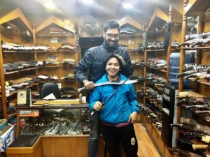 Kukri knife store in Kathtmandu