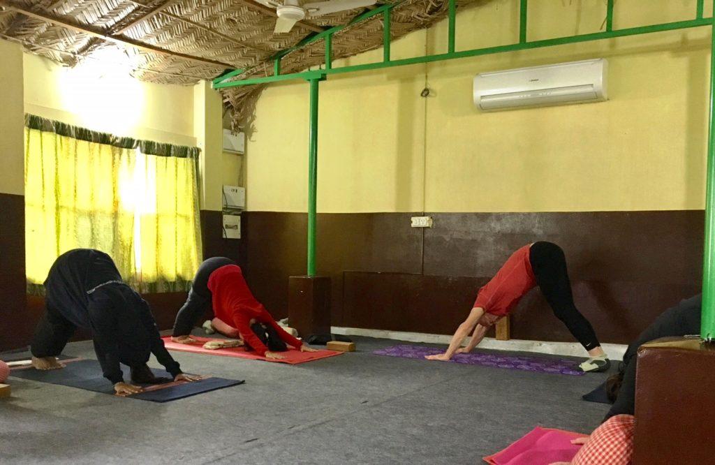 Asana class at Rishikesh Yog Peeth
