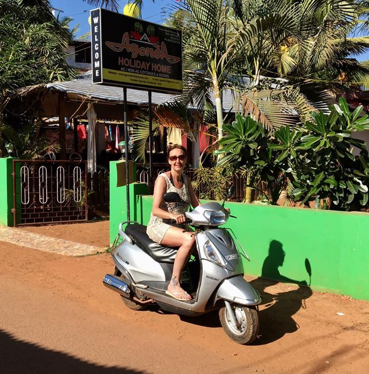 Me on my scooter in Goa