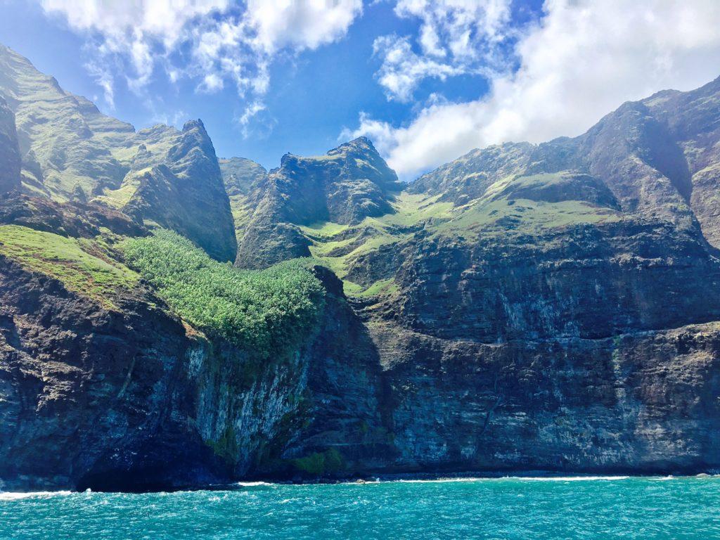 The cliffs of the Ne Pali Coast