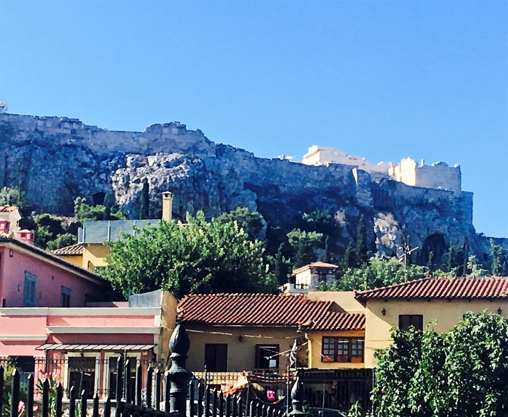 The Acropolis in the distance