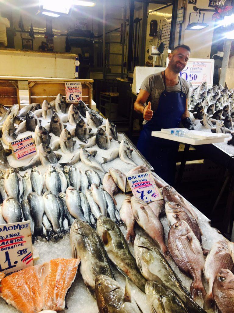 Fresh fish at the flea market