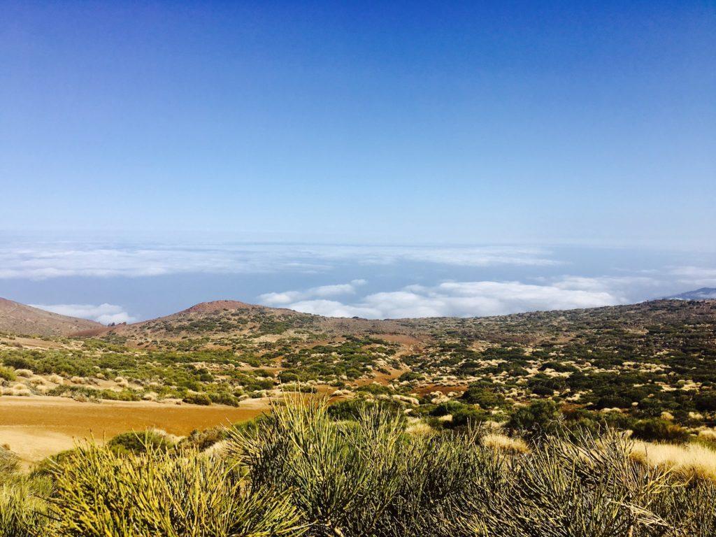 Clouds below Teide National Park