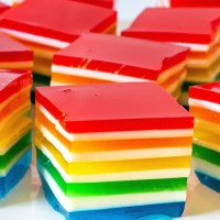 LAYERED RAINBOW JELLO