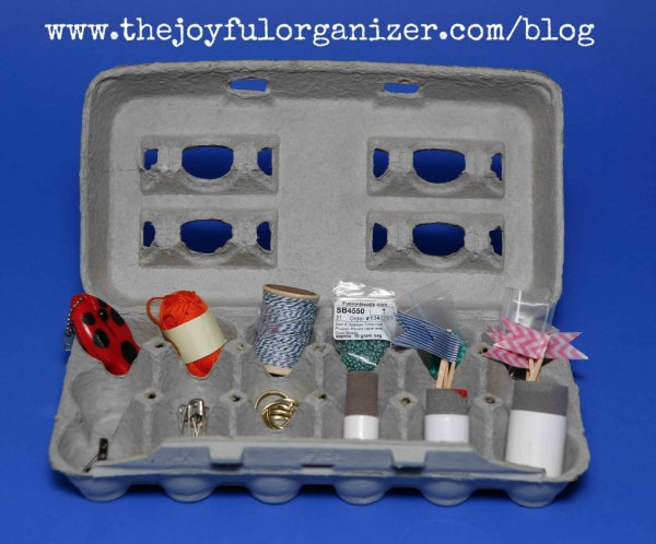 Organizing With Egg Cartons