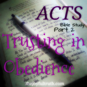 Acts Bible Study: Trusting in Obedience