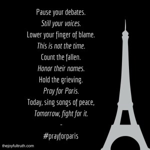 Why, Today, I Will Not Speak of Isis, But of Paris